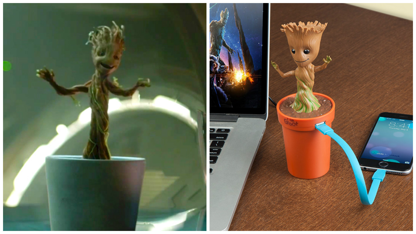 Add this dancing baby Groot car charger to your holiday shopping list right now