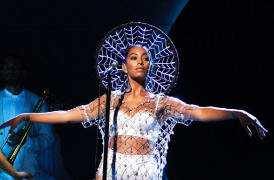 "We are HERE for Solange's glittering, gorgeous ""SNL"" performance"