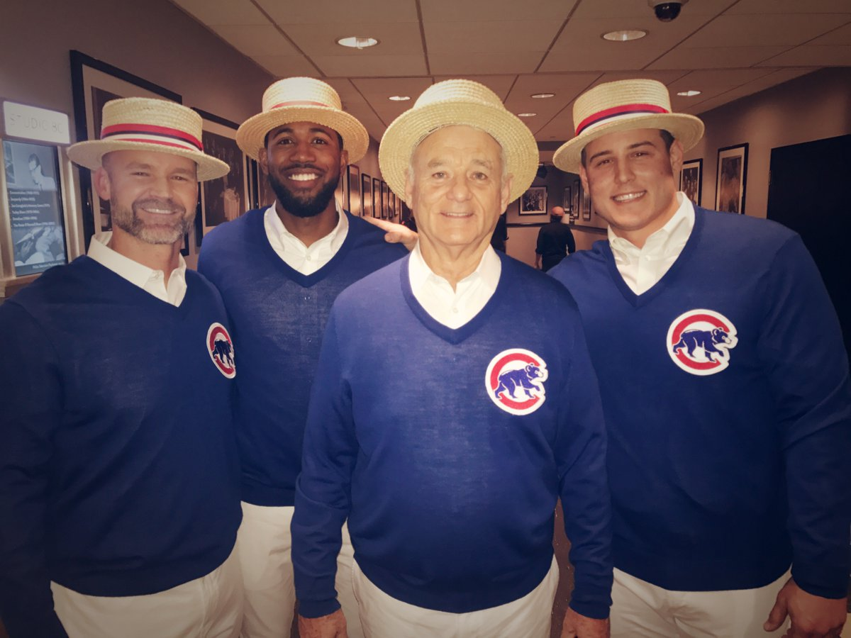 And here's Bill Murray singing about the Cubs on 'SNL' in case you need something perfect today