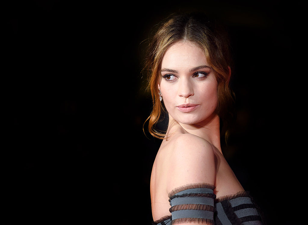 Lily James just wore the perfect holiday party outfit, so start planning yours now