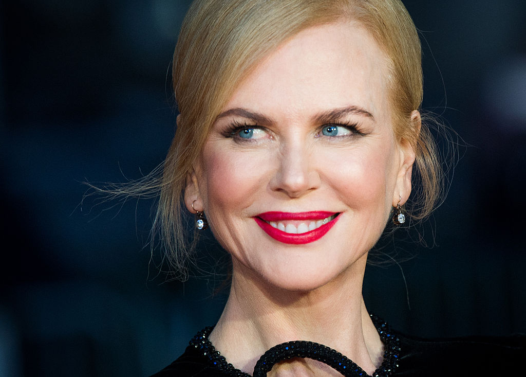 Nicole Kidman looks breathtaking in this gorgeous nude-colored gown