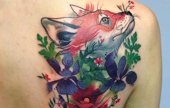 These dreamy tattoos are like something out of a storybook and we couldn't love them more