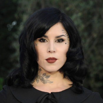 Kat Von D Beauty is coming out with blue shimmer lipstick, and it looks otherworldly