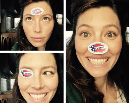 "19 Celebrities show off their ""I voted"" stickers and make us feel super patriotic at the same time"