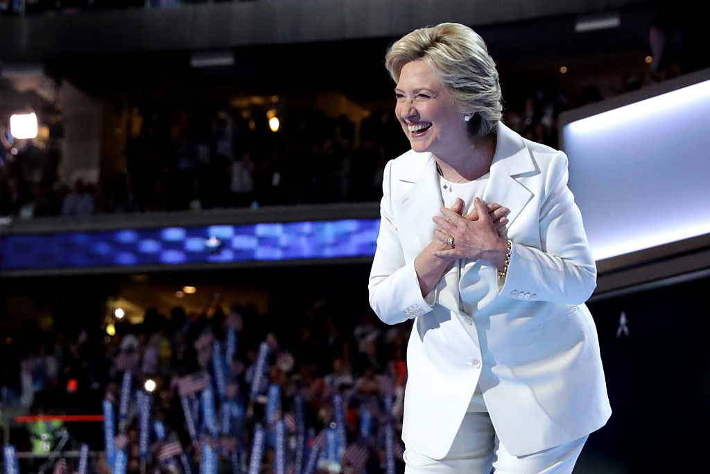 Searches for white pantsuits are at all-time high, proving we're in a #PantsuitNation