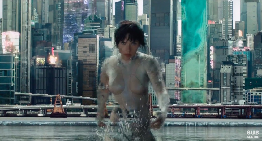 "There's a new ""Ghost in the Shell"" teaser and Scarlett Johansson has MAD camouflage abilities guys"