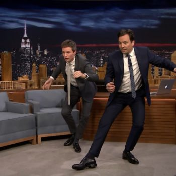 "Eddie Redmayne taught Jimmy Fallon his very best ""Fantastic Beasts"" mating dance, and ye gods it was amazing"