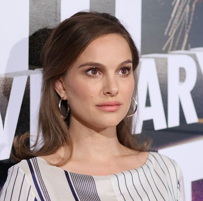 Natalie Portman's striped dress is the perfect maternity maxi