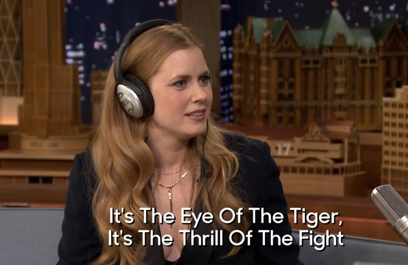 "Amy Adams played a ""Singing Whisper Challenge"" with Jimmy Fallon, and it's making us love her even more"