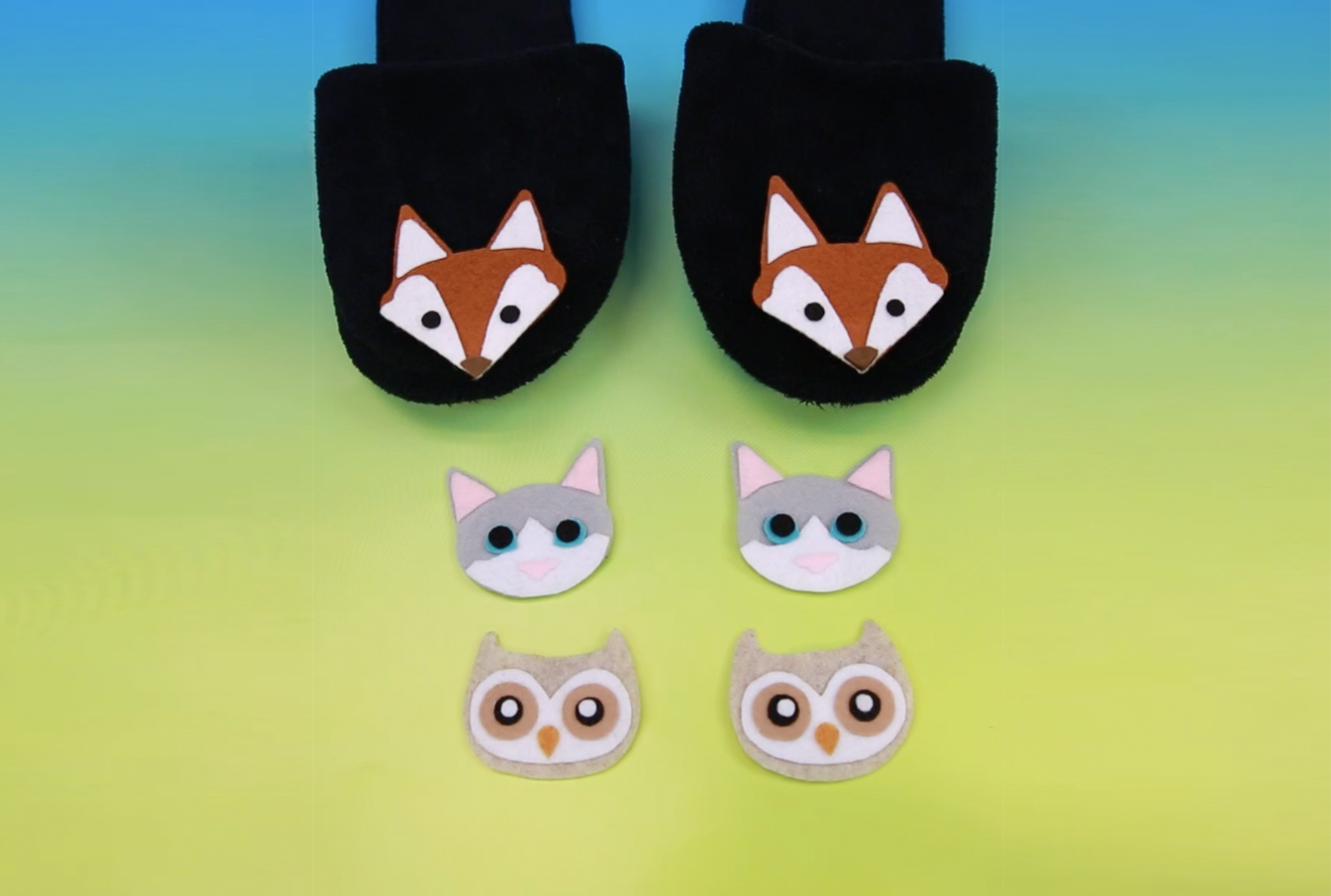 These critter slippers may just be the cutest (and coziest!) DIY you've ever seen
