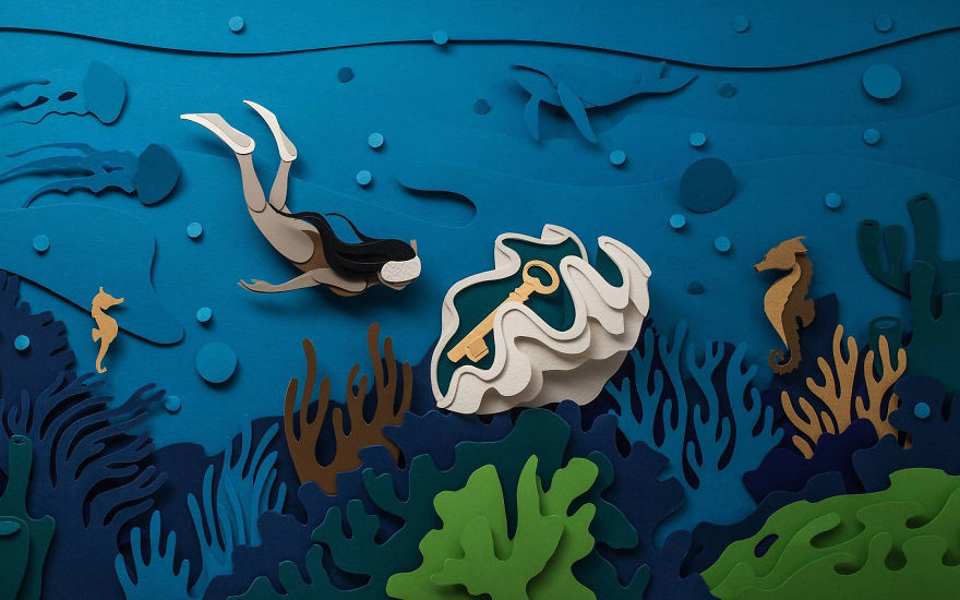 These otherworldly paper illustrations are the escape we need right now