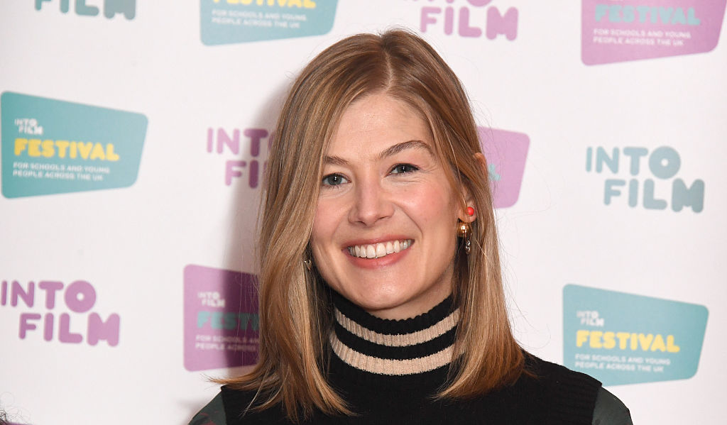 What do you do when Dame Judi Dench sets you up on a blind date? Rosamund Pike knows
