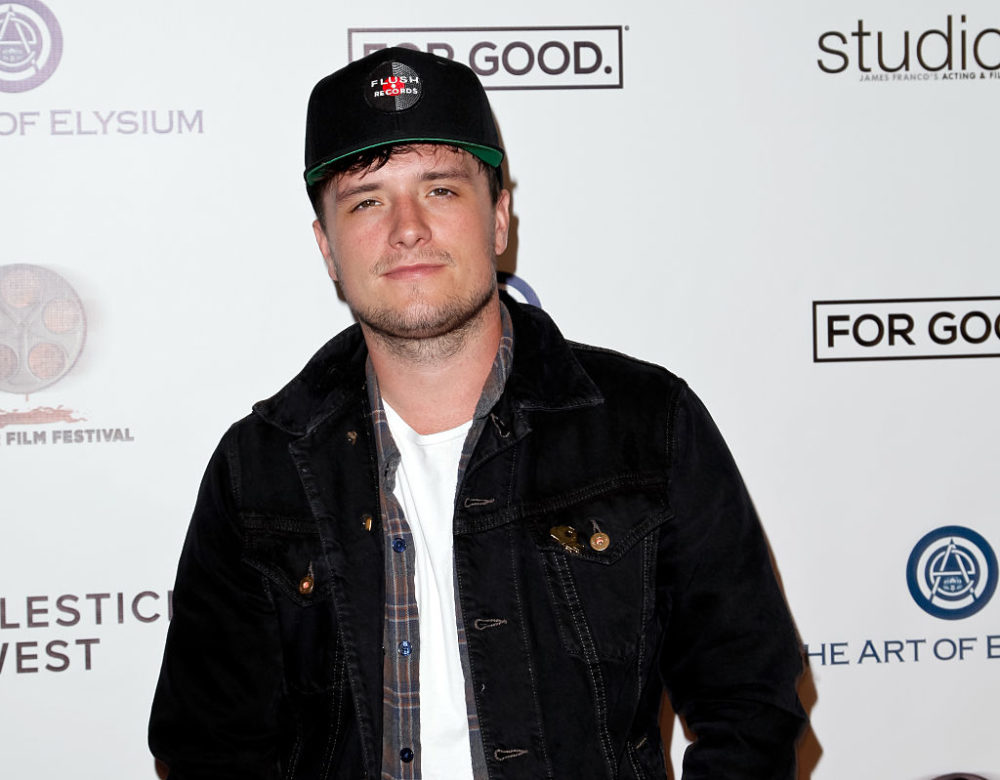 Josh Hutcherson walked in Los Angeles' peaceful protest