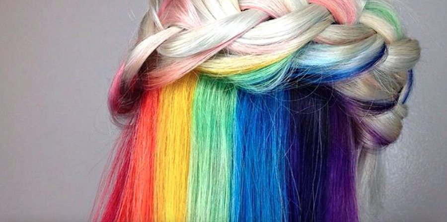 This GORGEOUS rainbow hair trend is just the bright and colorful boost we need this winter