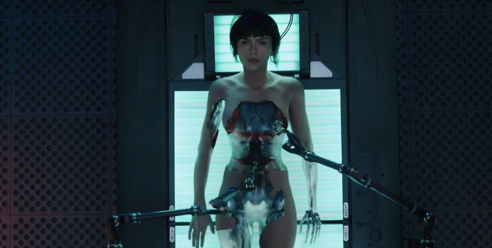 "The first official trailer for Scarlett Johansson's ""Ghost in the Shell"" is here and it is intense"