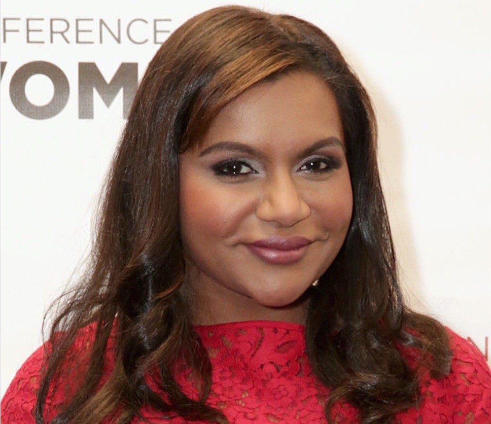 Mindy Kaling wore a dress with a holographic sparkly accent and we cannot look away