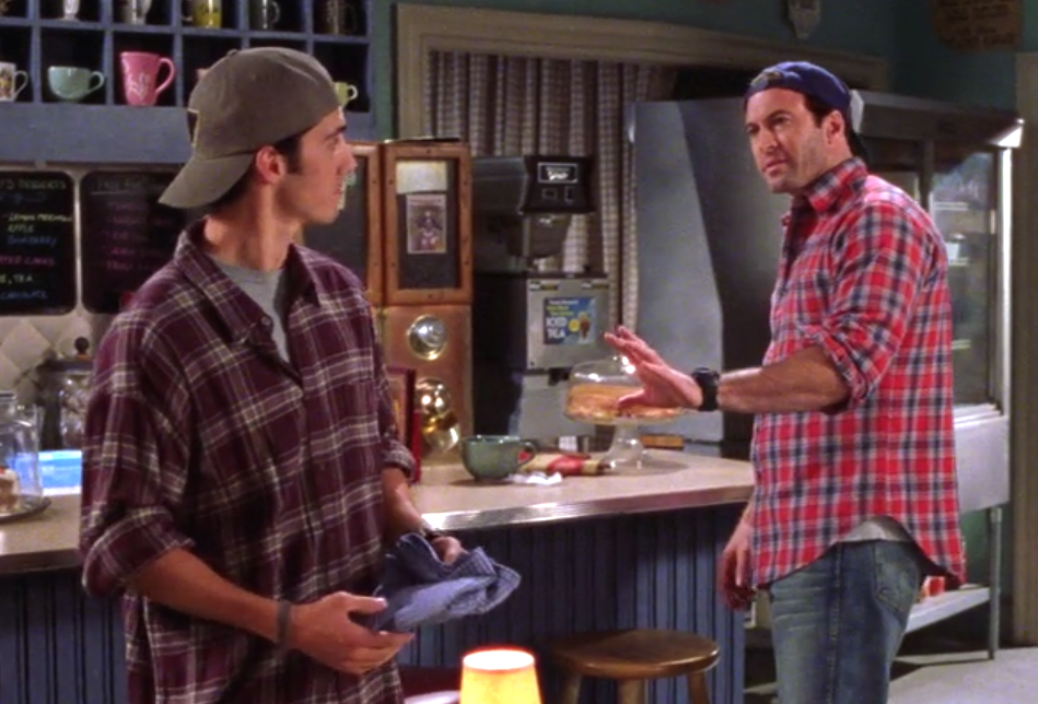 "You'll fit right in at Luke's Diner with this custom ""Gilmore Girls"" flannel shirt"