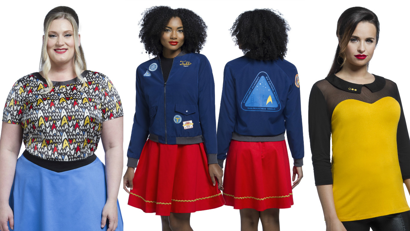 "Be prepared to ~beam up~ this new ""Star Trek"" collection from ThinkGeek and Her Universe"