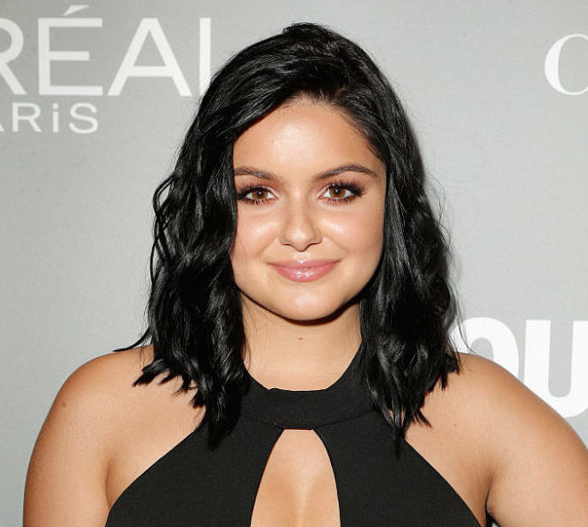 Ariel Winter looked like a chic AF boss in this gorgeous cut out top and satin white pants combo