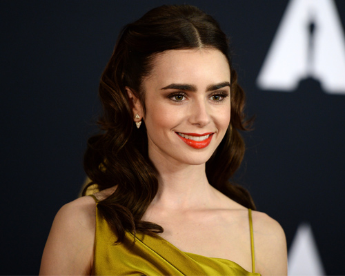 """Lily Collins is Belle from """"Beauty and the Beast"""" in this red-carpet look and it's magical"""