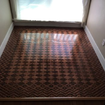Woman uses 13,000 pennies to create a floor, and it's possibly the coolest DIY project we've ever seen