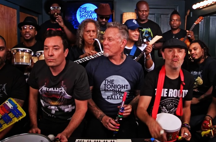 This video of Jimmy Fallon rocking out with Metallica on classroom instruments is simply a must-see