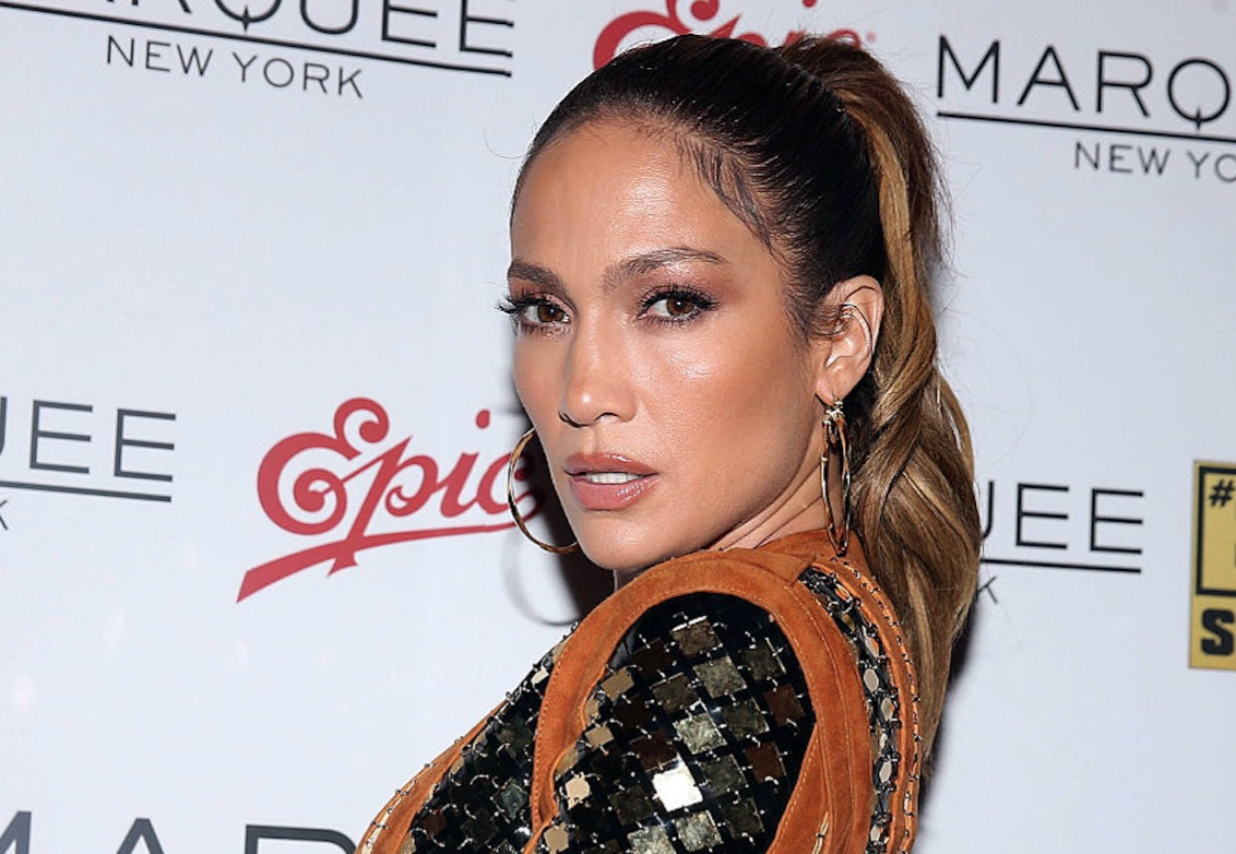 Jennifer Lopez wore a white fur coat during labor because of course she did
