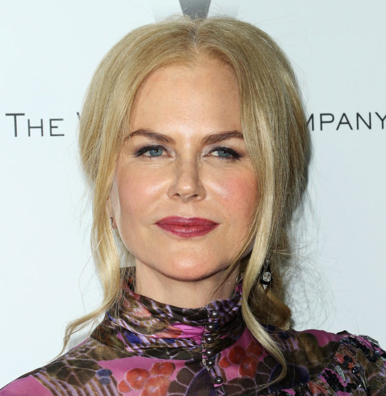 Nicole Kidman's flowery asymmetrical dress is totally edgy and chic