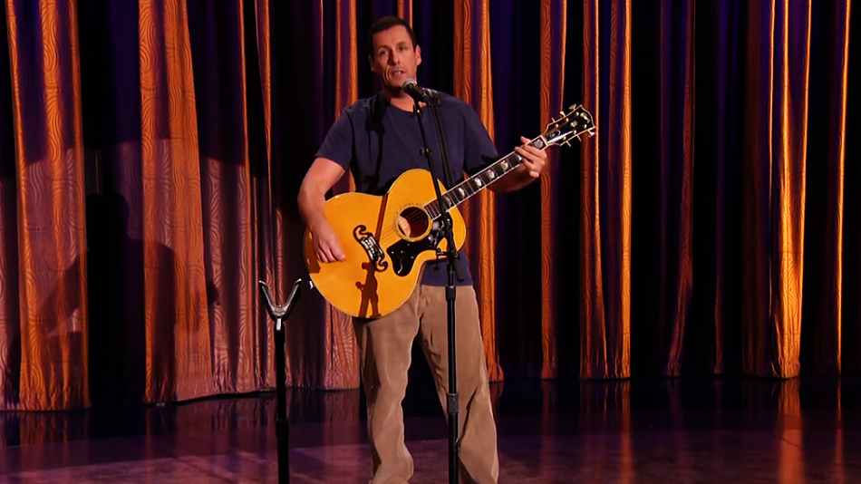 "Adam Sandler performed a new song on ""Conan"" last night, and it's giving us major nostalgia"