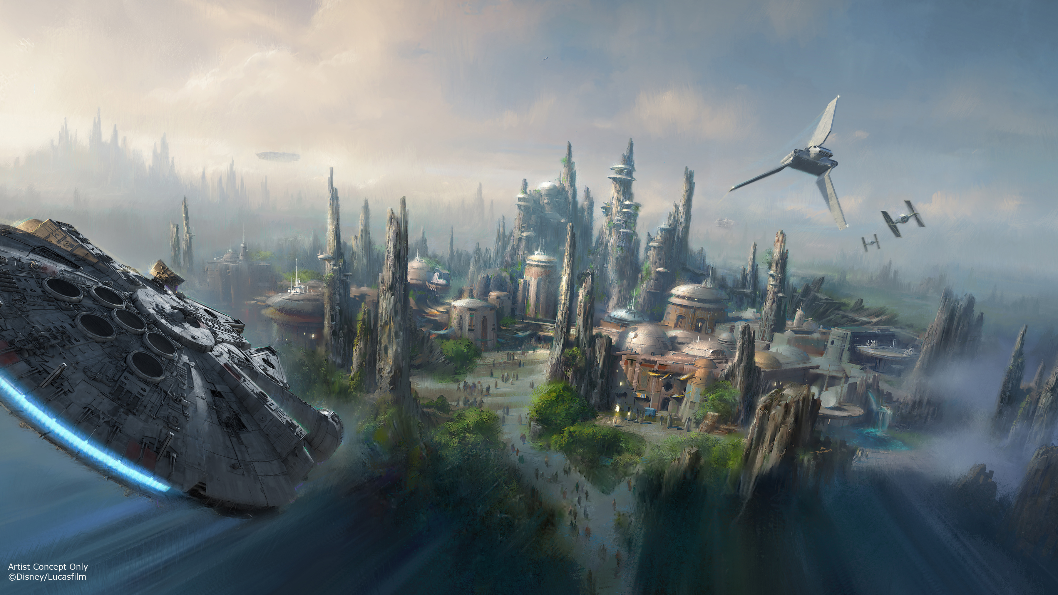 We've got a bird's-eye view of Star Wars Land at Disney World and we can't look away