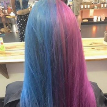 This woman's stunning dual dye job proves we don't have to choose when it comes to picking out a new hair color