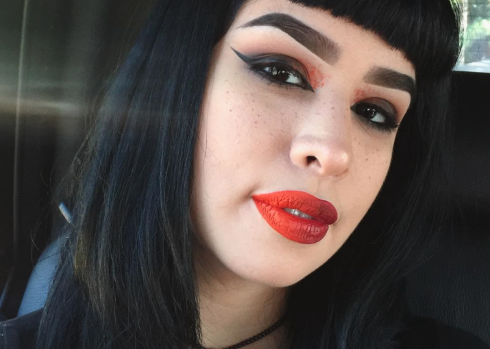 This make-up artist sent an amazing message to her depression using makeup and we're here for it