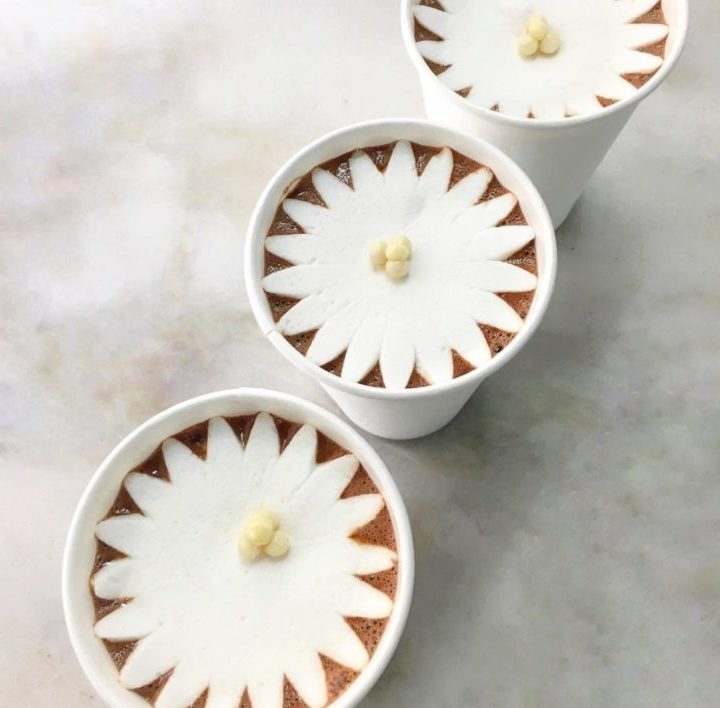 You can now get marshmallows that bloom like flowers to make your hot chocolate super fancy
