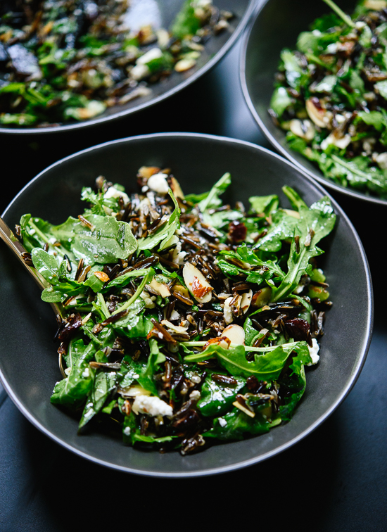 ... Arugula, Dried Cherry and Wild Rice Salad With A Zippy Lemon Dressing