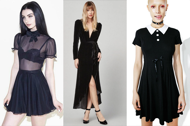 13 dress ideas for the everyday goth who still wants to look morbid for the holidays