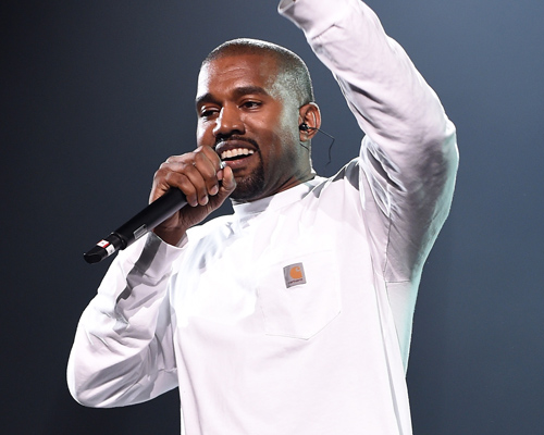 Kanye West has rainbow sherbet-colored hair now