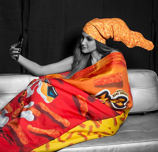 Okaaay, there's a Cheetos fashion store and you're going to need everything now