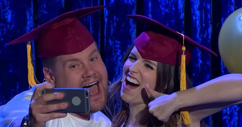 Anna Kendrick, Billy Eichner, and James Corden sang all about growing up in this epic mashup