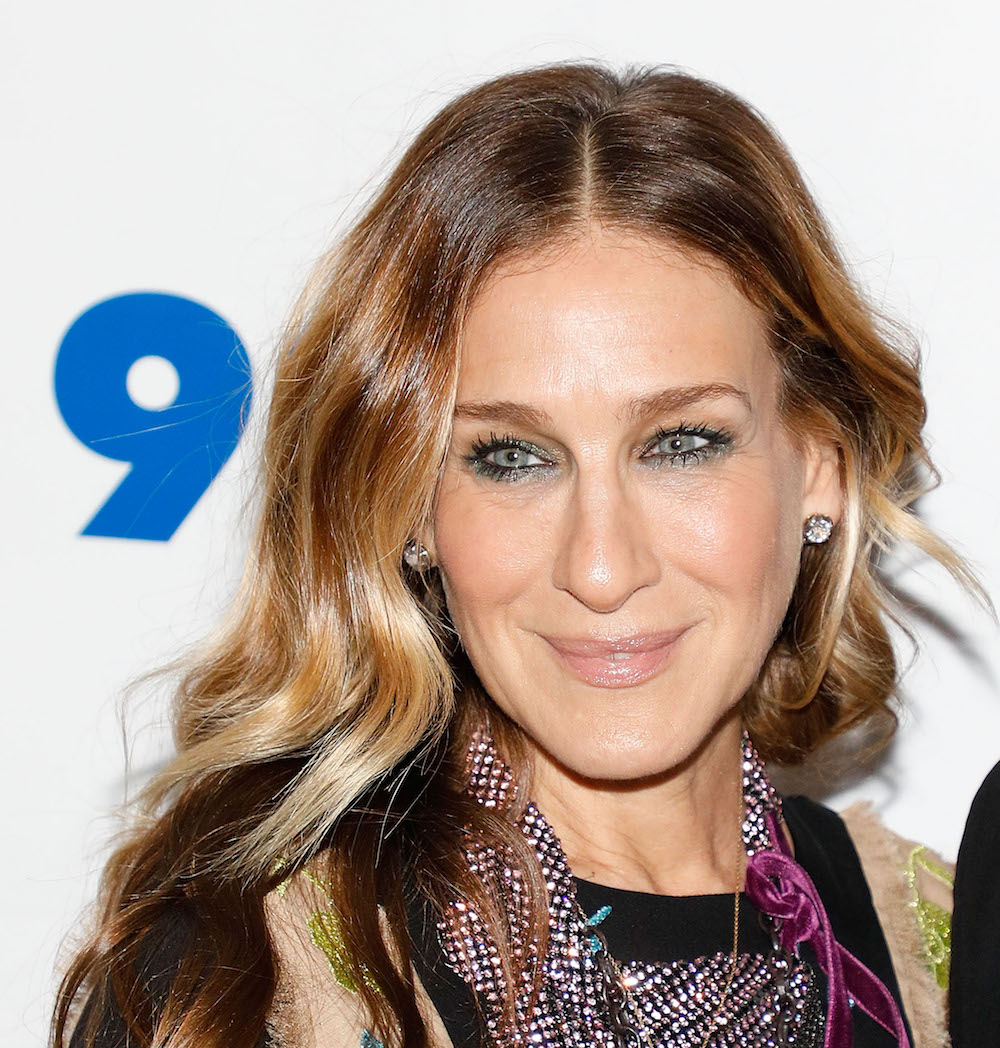 Sarah Jessica Parker showed off sapphire slippers out on the town, and we need them now