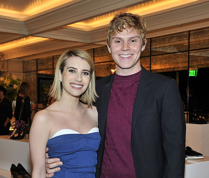 Evan Peters just posted a photo of Emma Roberts, it is worth a thousand words