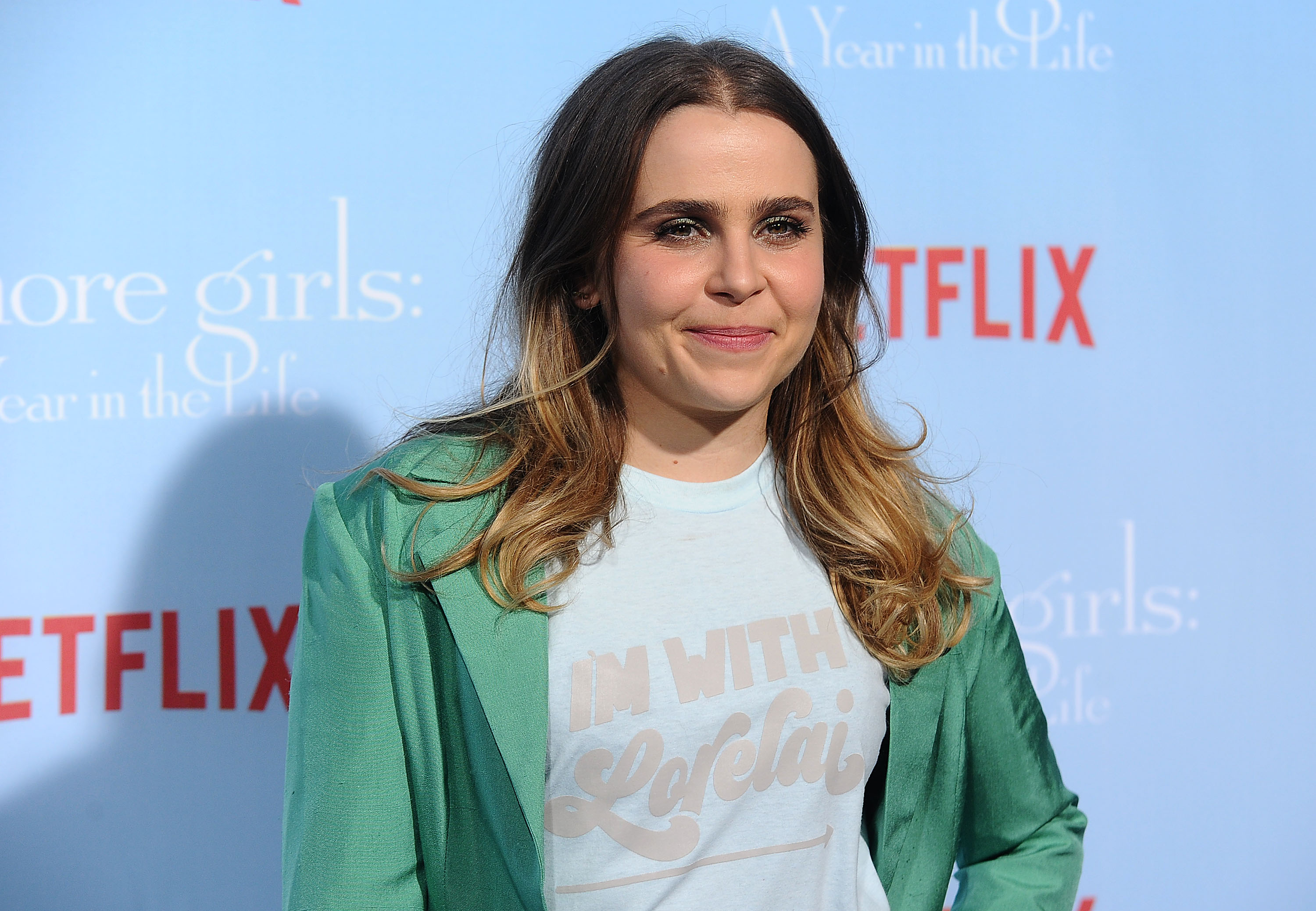 "You can snag the ""Gilmore Girls"" shirt Mae Whitman wore to the premiere *right now*"