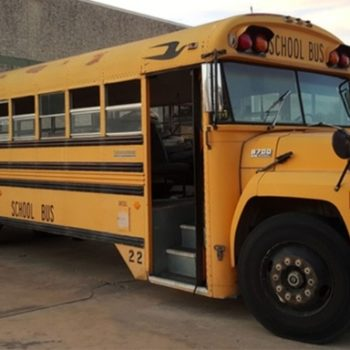 This school bus is being remodeled into the coolest mobile home