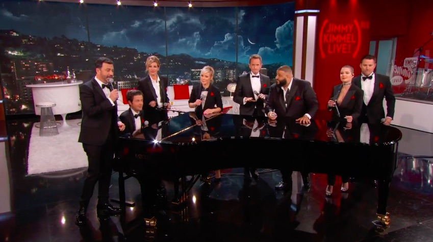 Jimmy Kimmel assembled a super famous super group to sing about AIDS awareness