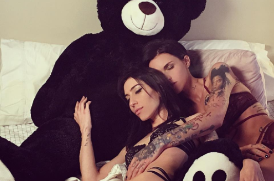 Ruby Rose's reaction to her girlfriend's risqué performance is everything