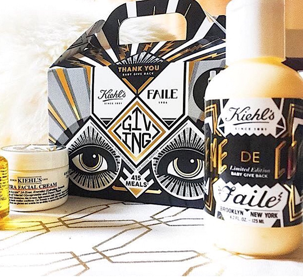 We love this gorgeously designed holiday collection from Kiehl's that also helps a really great cause