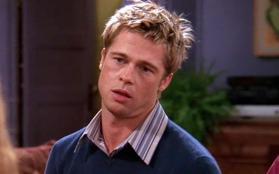 """The one strange detail in the Brad Pitt """"Friends"""" Thanksgiving episode we still have questions about"""