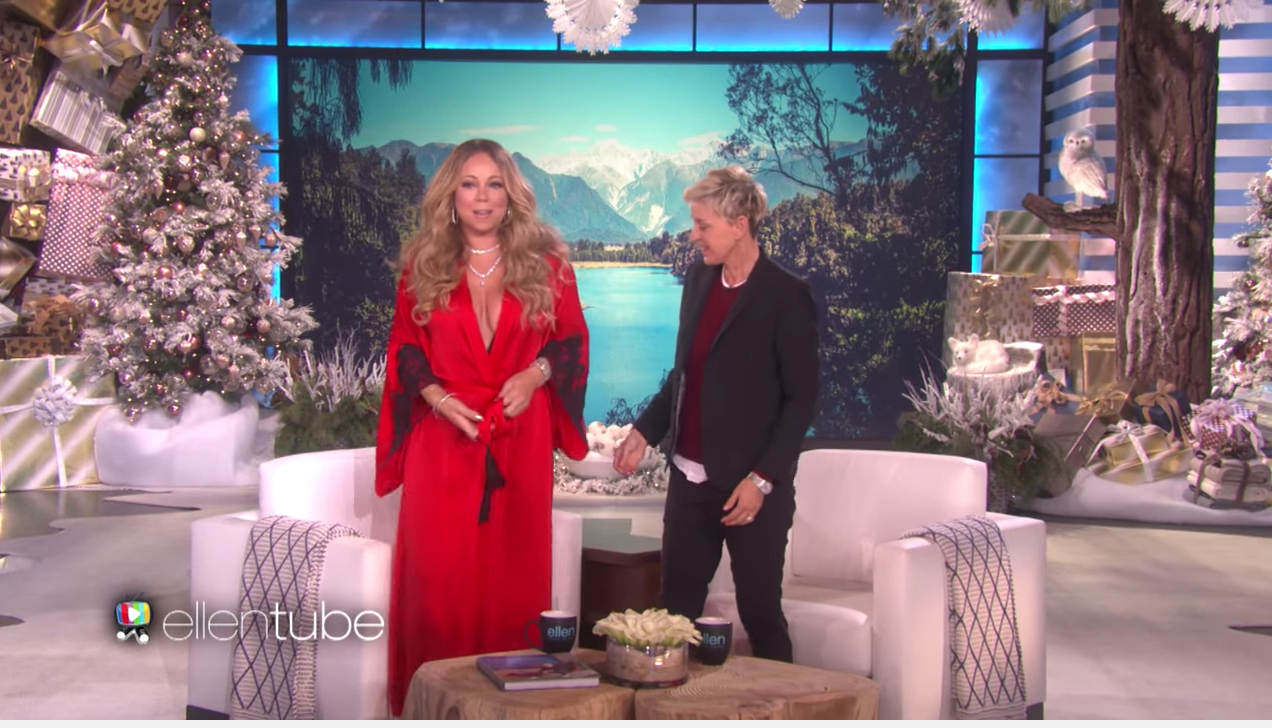 """Um, we need that robe Mariah Carey wore on """"Ellen,"""" please and thank you"""