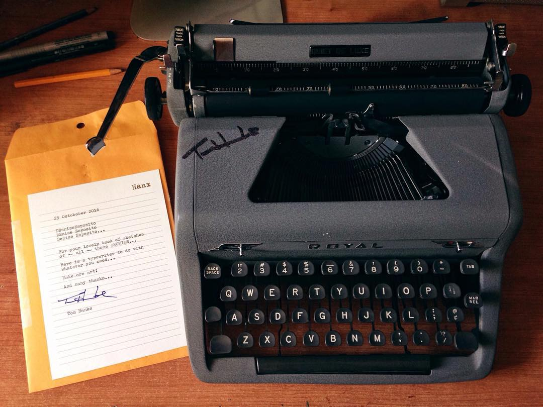 Tom Hanks sent a fan a typewriter, proving yet again he's everyone's favorite dad