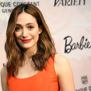 All cat owners can relate to this pic of Emmy Rossum's cat taking over her dinner table