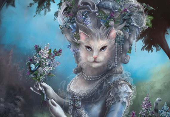 This artist imagines cats as historic figures, and you can buy them in case that's something you're into
